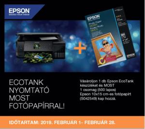 ecotanc epson fotópapír akció