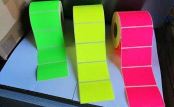 színes fluó etikett címke