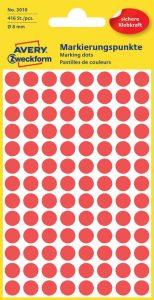 jelölő címke 8 mm avery piros